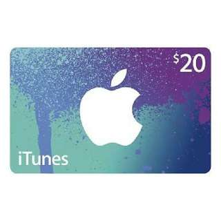 $20 iTunes Gift Card
