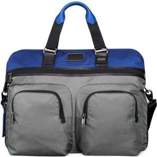 Tumi Men's Blue Alpha Bravo Hanscom Duffel Bag