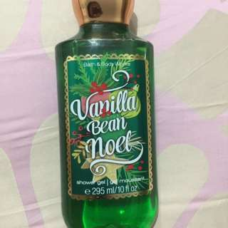 Bath and Body Works BBW Vanilla Bean Noel Shower Gel