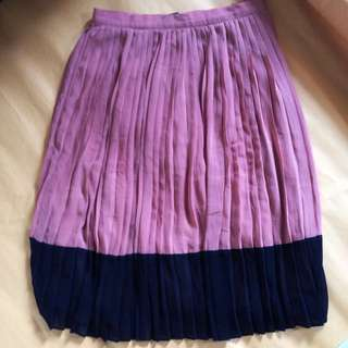 Forever21 Brown Pleated Skirt