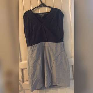 Black And Gray Office Dress XL