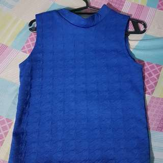 Blue Sleeveless