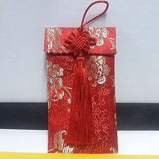 Envelope Packet/ Pouch/ Bag, with Chinese Knots & Tassel ↪ Abstract Pattern/ Flower  💱 $7.50 Each Piece