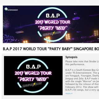 LF!! WTB BAP party baby singapore boom concert tickets