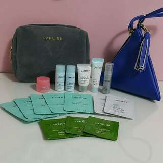 Laneige Special Care Lip Sleeping Mask + Laneige Cosmetic Pouch + Laneige Small Bag (Plus Free 15 Pcs Giveaway Samples)