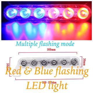 1 Pc Blue & Red Flashing Led Light
