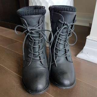 Called It Spring Heeled Combat Boots