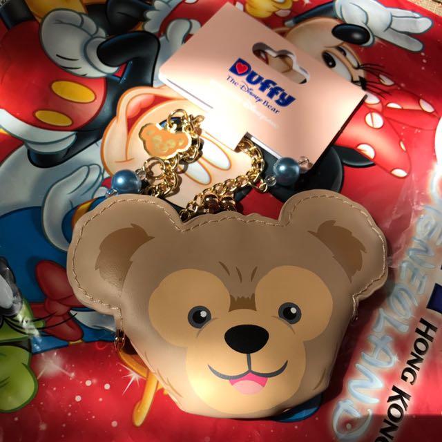 香港迪士尼達菲吊飾零錢包