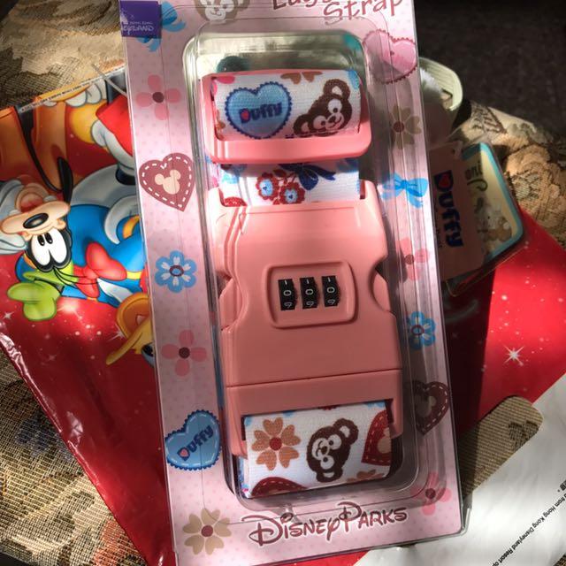香港迪士尼 密碼行李束袋