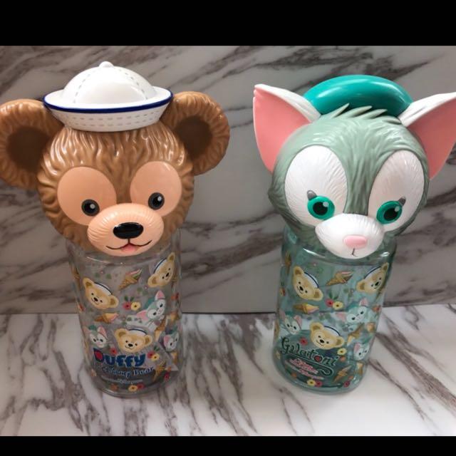 香港迪士尼 達菲 畫家貓造型水壺