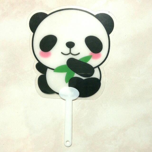 #文具 #家庭雜貨 熊貓扇子 #出清