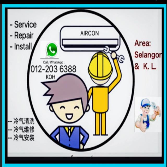 Aircond Service Servis Repair Install Baiki Pasang Aircon Peralatan Dapur Di Carou