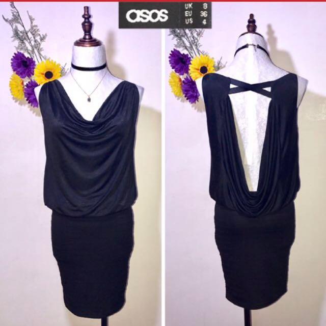 ASOS BLACK BACKLESS DRESS