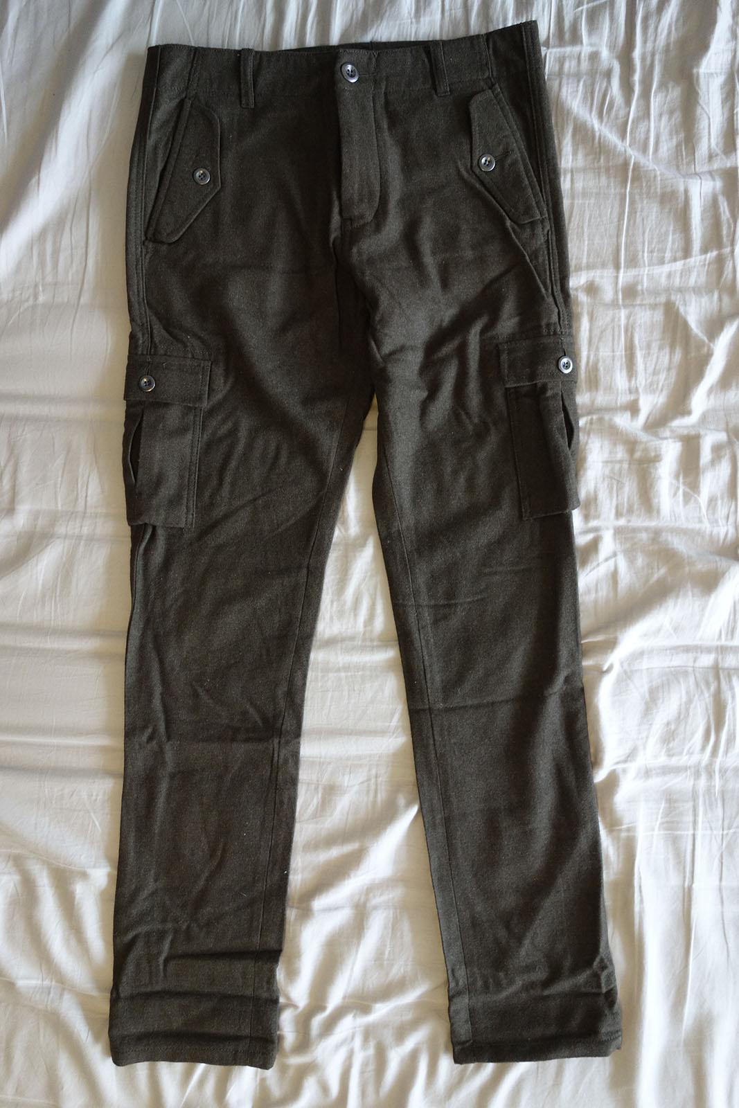 ASOS Khaki Wool Cargo Pants - Size 30/30 *Brand New*