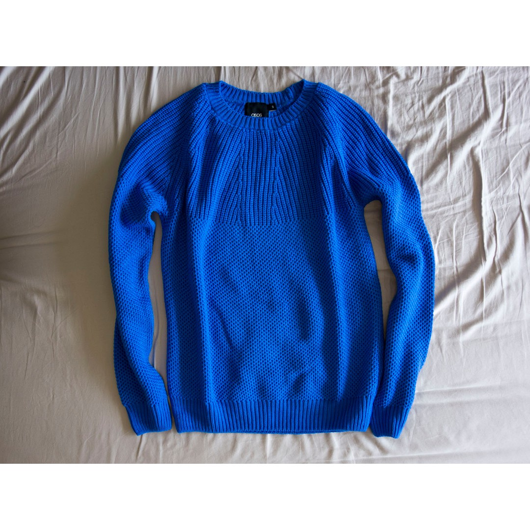 ASOS Knitted Royal Blue Jumper - Size S *Brand New*
