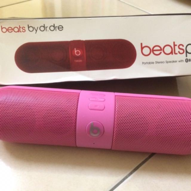 Beats Pill Bluetooth Portable Speaker (Pink)