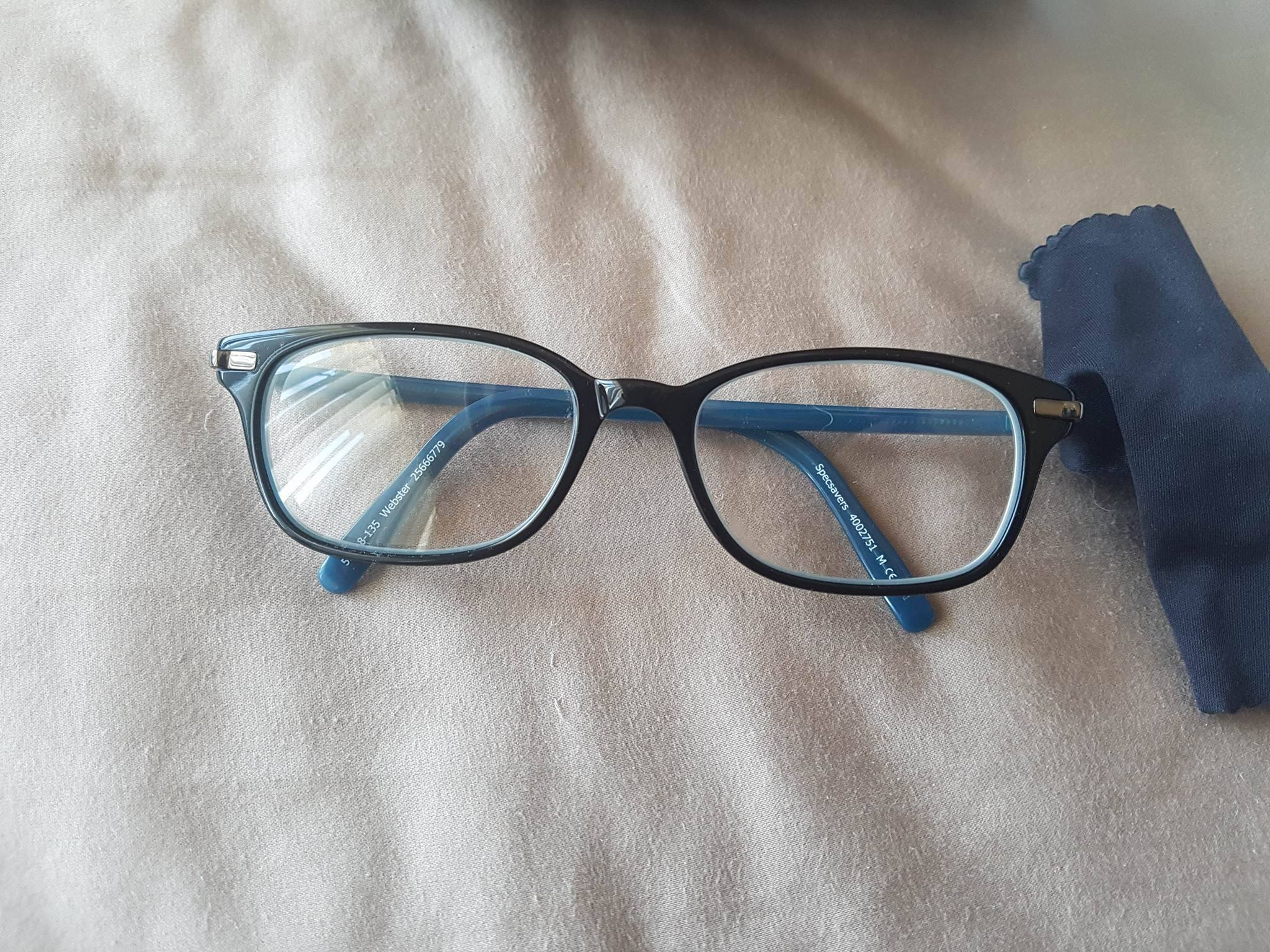 Black and Blue Glasses