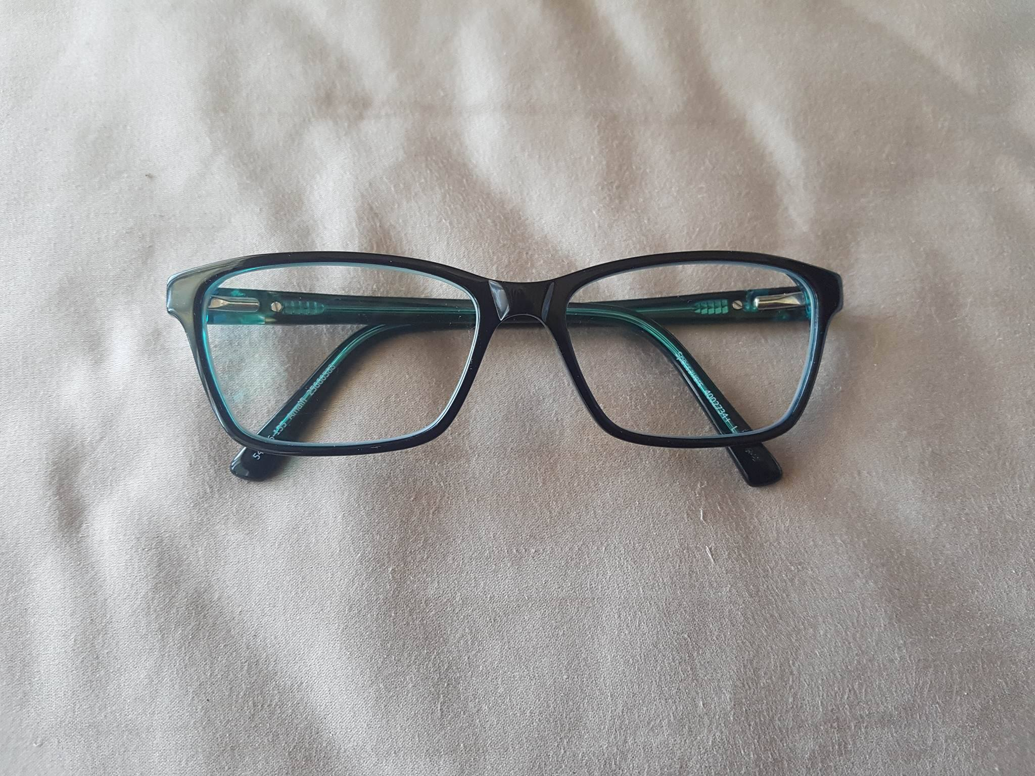 Black and Green Glasses