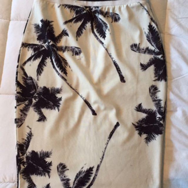 Black And White Pin Skirt