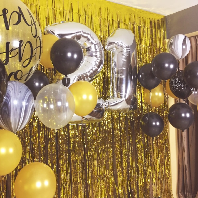 Black Gold Silver Theme For 21st Birthday Party Design Craft