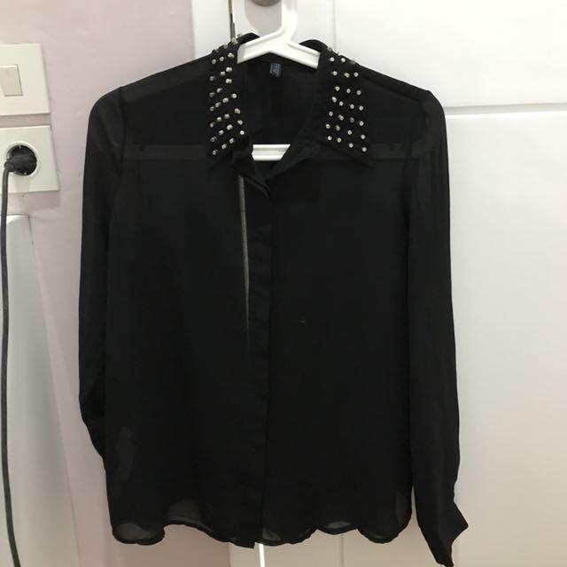 Black Studded Shirt