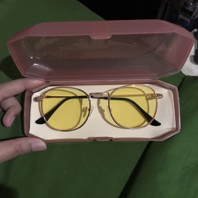 BRAND NEW Yellow Tinted Glasses