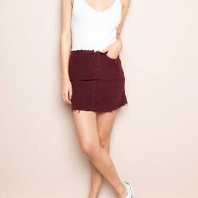 e4b15c92e9 Brandy Melville Juliette Corduroy Skirt, Women's Fashion, Clothes ...