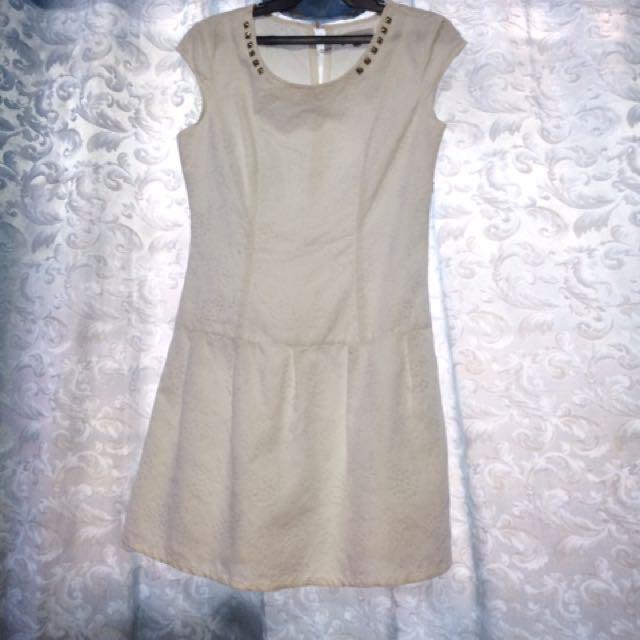 Cache Cache White Dress
