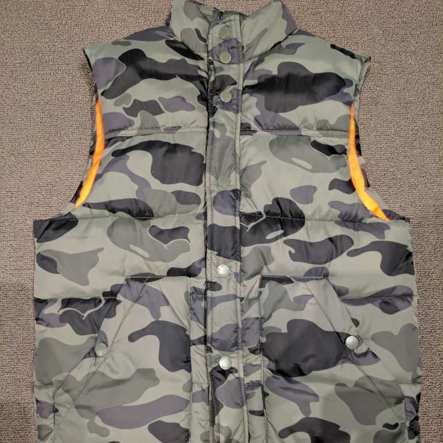 Camo Puffer Vest $60
