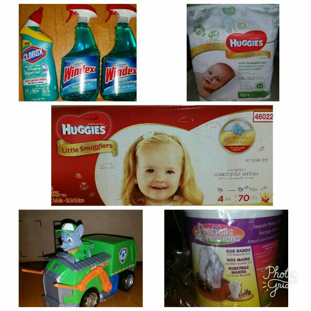 Diapers, Toys, Clothes
