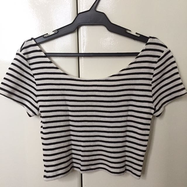 Divided by H&M Striped Crop Top
