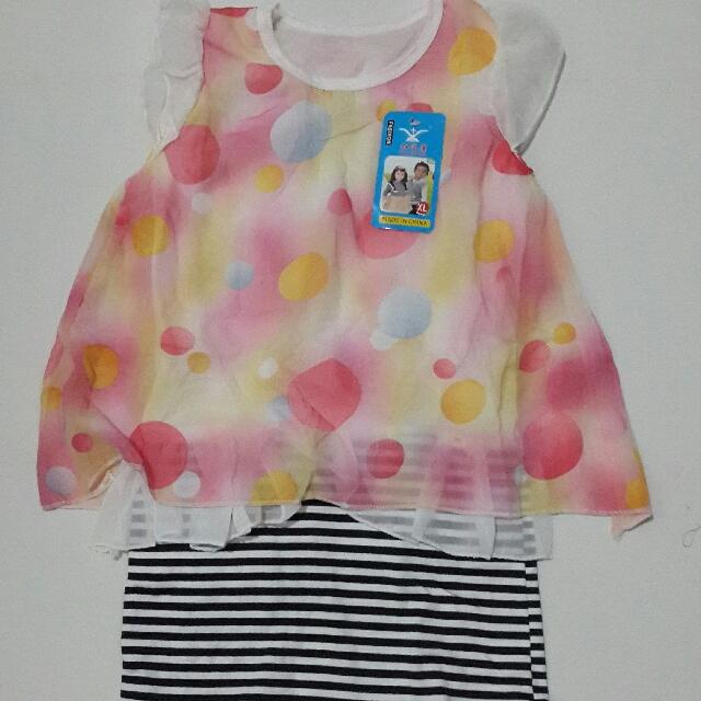 Dress Bola Bola + Rok Stripes