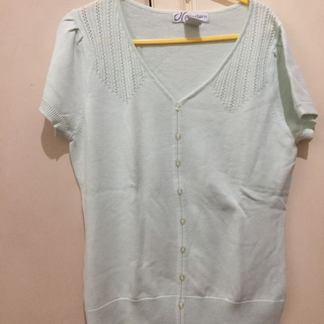 Dressbarn Shirt/ Short Sleeve Cardigan