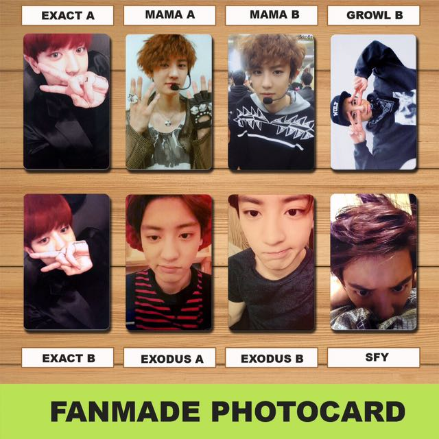 Exo Fanmade Photocards Set 3