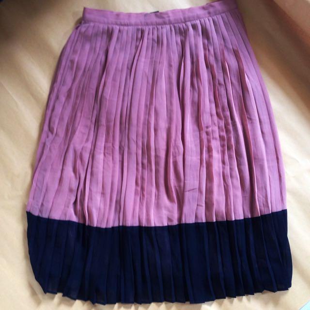 Forever21 Brown Pleated Skirt