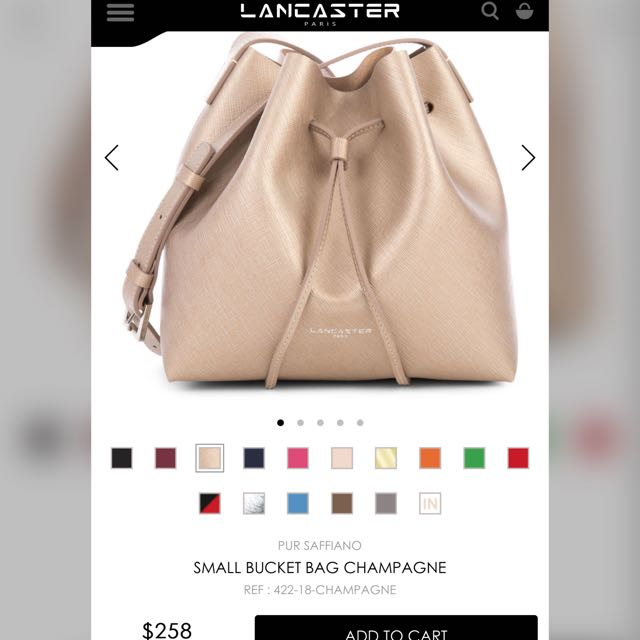 FREE SHIPPING!Bnew Lancaster Bucket Bag (Champagne)