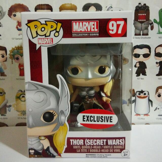 Funko Pop Lady Thor Secret Wars MCC Exclusive Vinyl Figure Collectible Toy Gift Movie Comic Super Hero Marvel Collector Corps