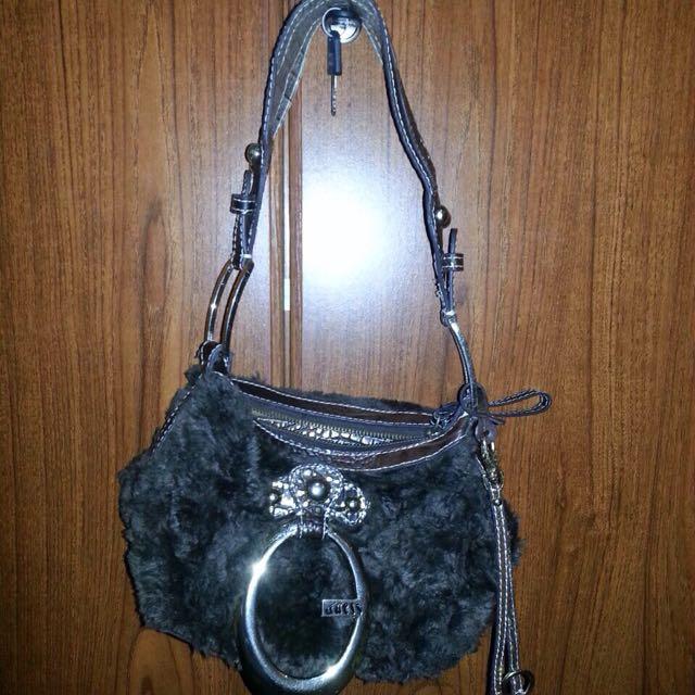 Guess Shoulder Fur Bag