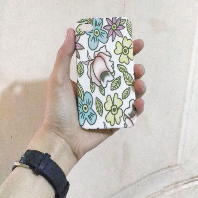 Hard Case Iphone 4/4s White Floral