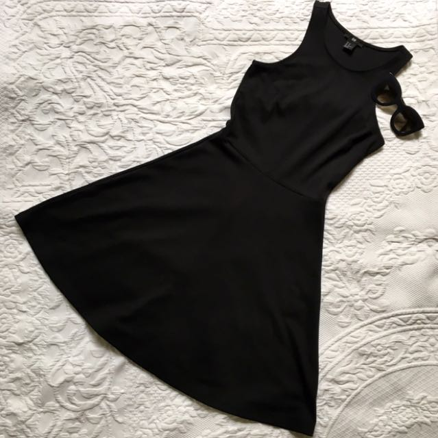 H&M Black A-Line Dress