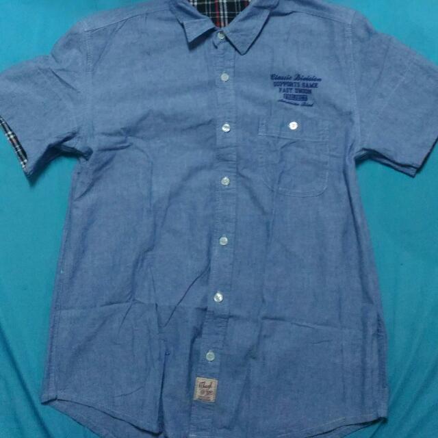 American Boulevard Denim Polo Shirt