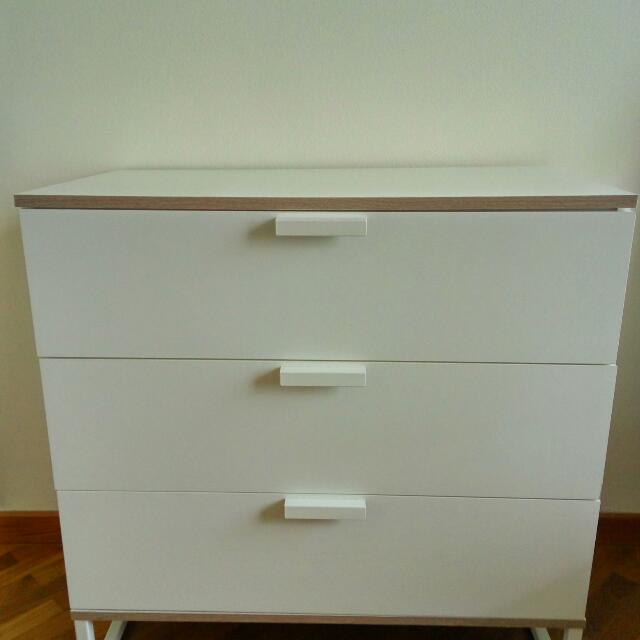 Ikea Trysil Chest Of 3 Drawers White Furniture Shelves On Carou