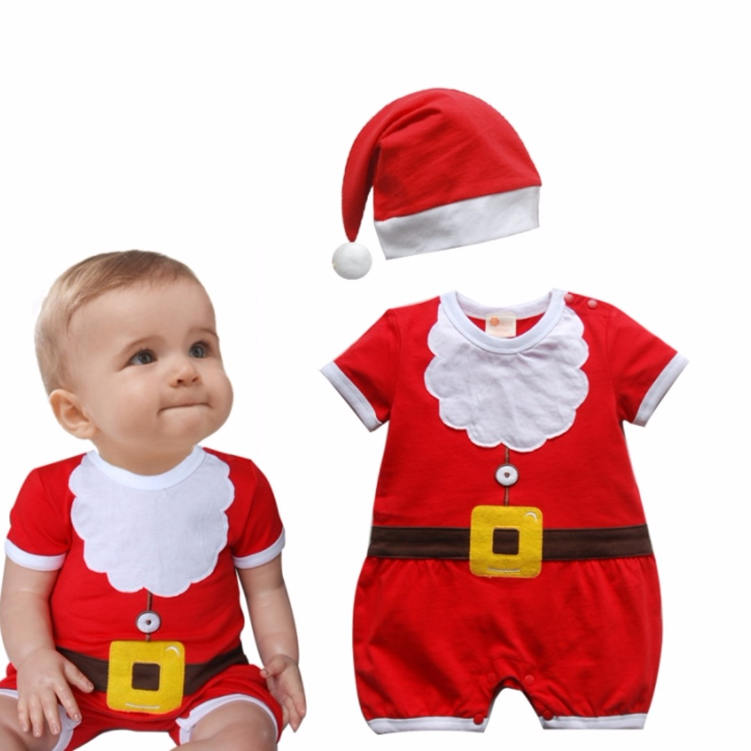eba55cdf7bf55 Instocks   Ready Stocks Brand New Baby Santa Claus Christmas Costume ...