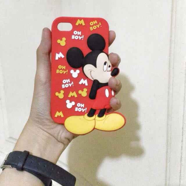 Iphone 4/4s Case Mickey Mouse Red