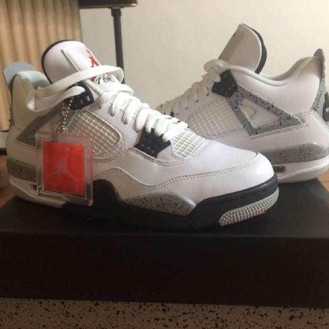 Jordan Retro 4代 White Cement