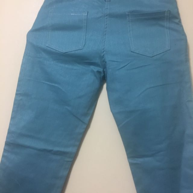 Light Blue Green Maong Pants, Preloved Womenu0027s Fashion, Clothes On Carousell