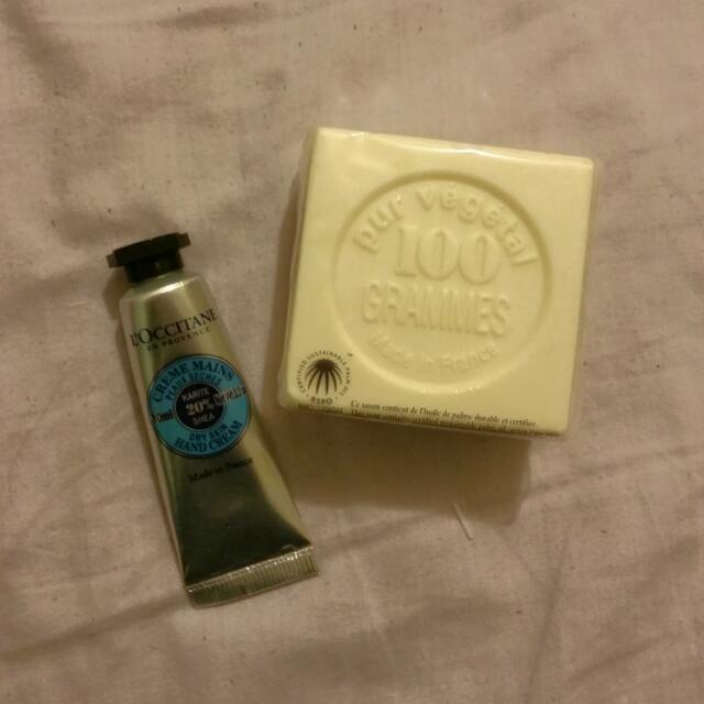 L'Occitane Hand Cream And Soap