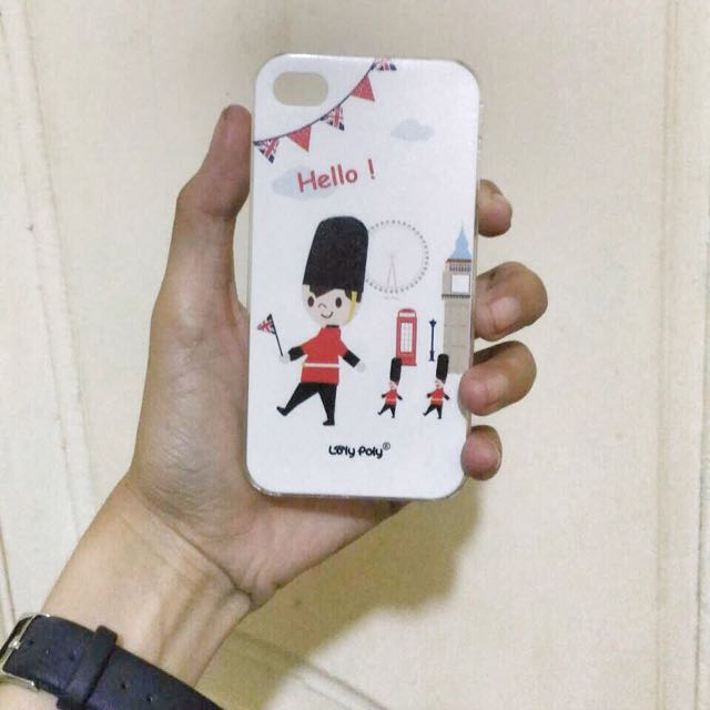 Loly Poly London Hard Case Iphone 4/4s White