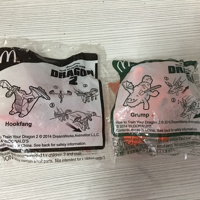 McDonalds Happy Meal How To Train A Dragon