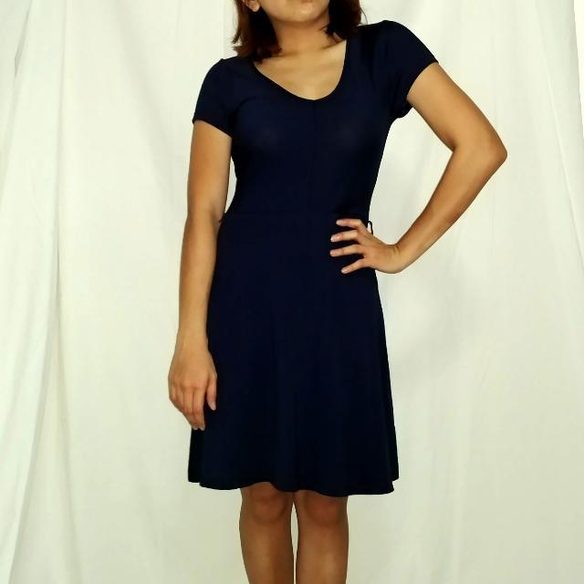 Midnight Blue Classy Dress